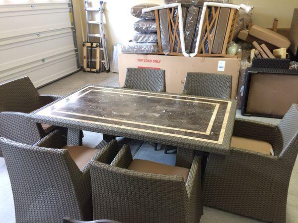 Costco Patio Wicker Dining Set Furniture In Denton Tx Offerup
