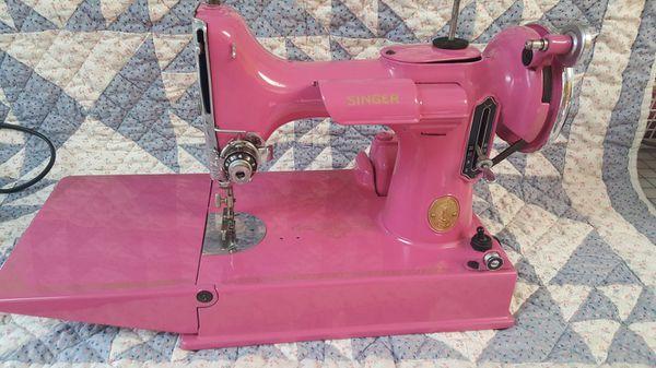 40 Hot Pink Singer Featherweight Sewing Machine For Sale In Fort Simple Featherlite Sewing Machine Pink