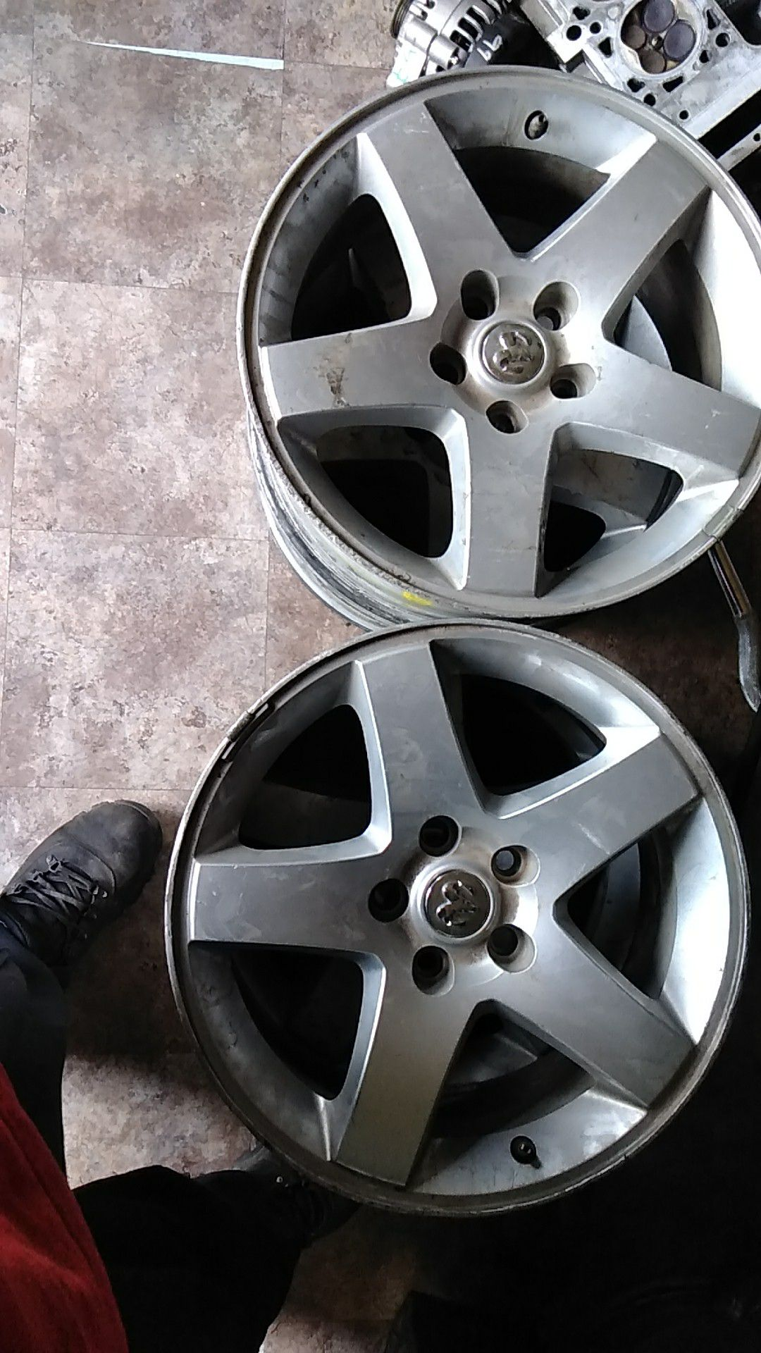 2008 charger set of wheels