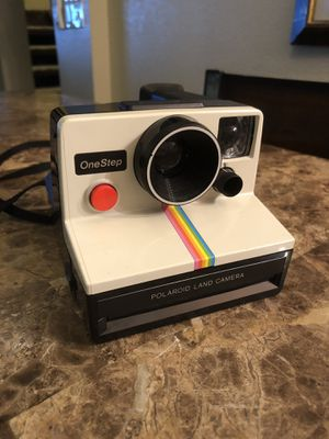 Vintage 1970's Polaroid SX-70 OneStep White Rainbow Stripe Land Camera good working condition for Sale in Gilbert, AZ