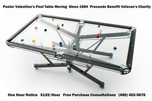 POOL TABLE MOVING MOVER YEARS EXPERIENCE PASTOR VALENTINO For - Pool table movers phoenix