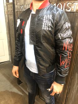 Bomber music jacket sizes small medium large Xl Thumbnail