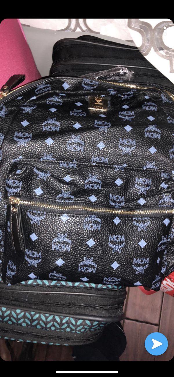 Men Backpacks Mcm mcm Backpack Blue Black 5senses.co.ke