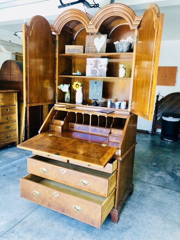 Antique Secretary Bookshelf Hutch Furniture In Chino Hills CA