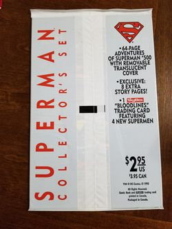 Superman #500 Collectors Set Sealed White Cover. Thumbnail