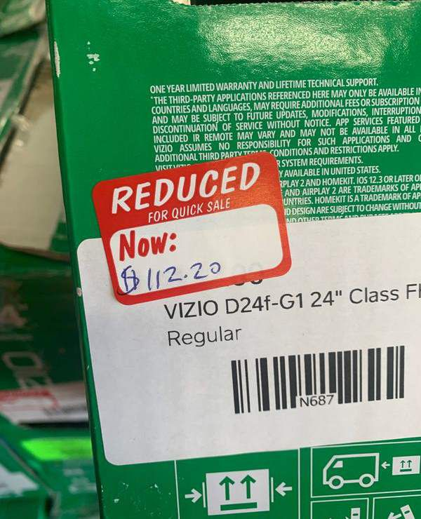 "VIZIO 24"" LIQUIDATION SALE N6M"