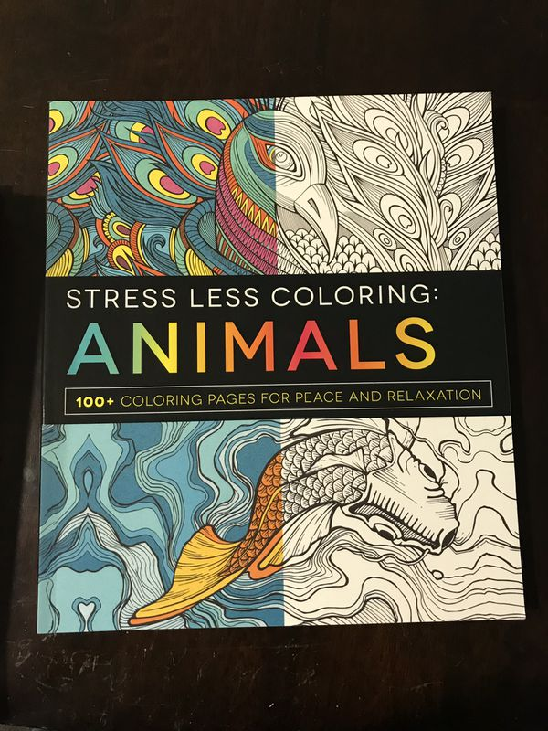 stress less coloring animals 100 coloring pages for peace and relaxation