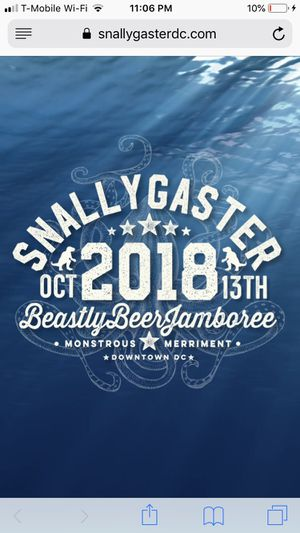 Snally gaster tickets for Sale in Alexandria, VA