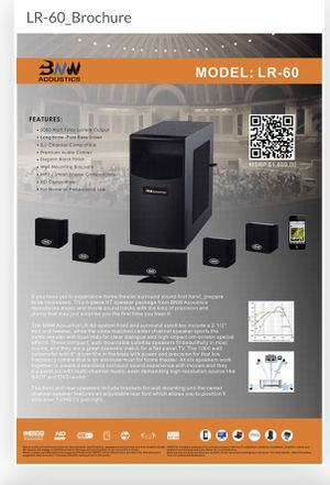 BNW Acoustics LR-60 Home Theater System for Sale in Orlando, FL