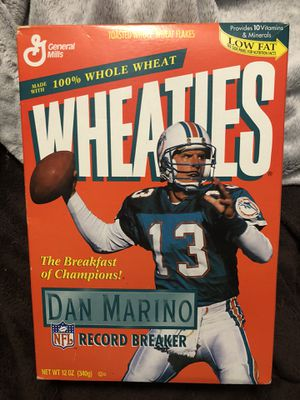 Miami Dolphins Dan Marino Wheaties cereal box unopened for Sale in Longwood, FL