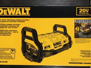 Photo DEWALT 1800 Watt Portable Power Station and 20-Volt/60-Volt MAX Lithium-Ion Battery Charger