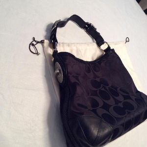 Black/Silver Coach Handbag for Sale in Vashon, WA