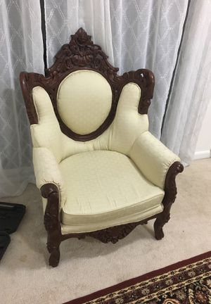 Beautiful Hand Carved Chair for Sale in Fairfax Station, VA