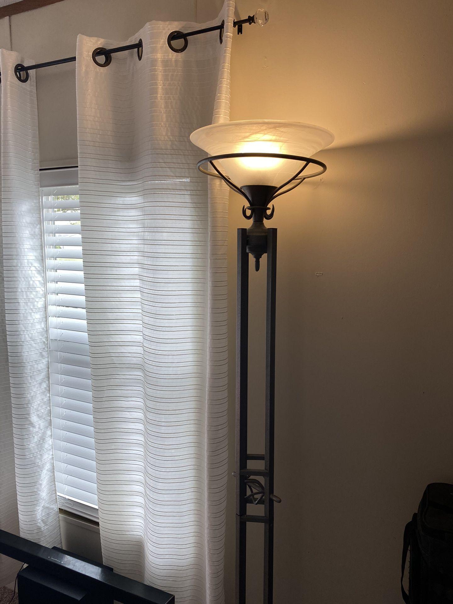 sturdy metal floor lamp
