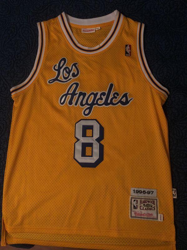 7cc6368e157 Lakers Kobe Bryant Mitchell   ness hardwood classic jersey for Sale ...