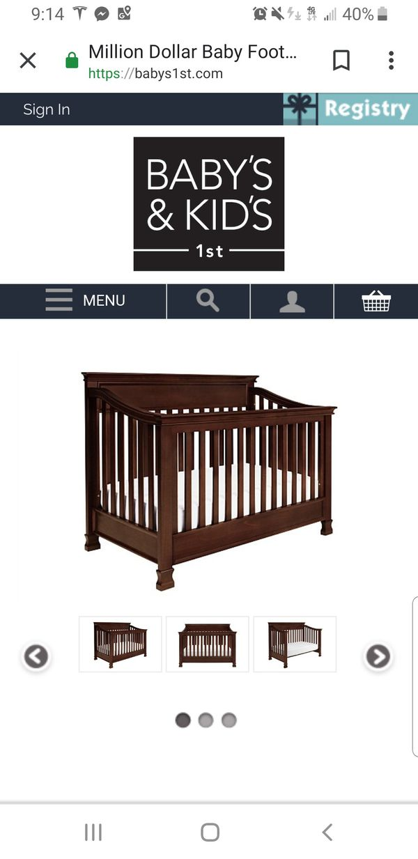 Million Dollar Baby 4 In 1 Crib To Bed For Sale In Maple