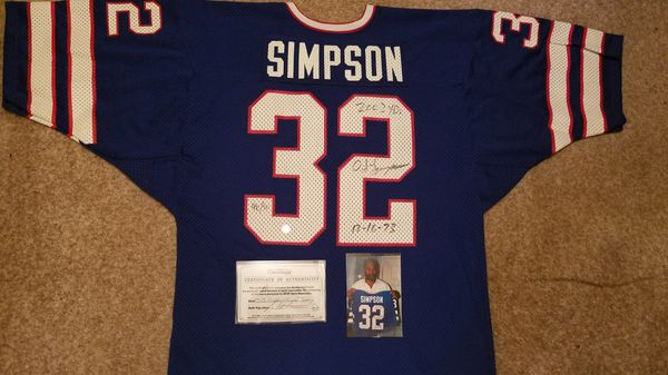 half off cdc2c 47659 AWESOME!! OJ SIMPSON SIGNED BILLS JERSEY INSCRIBED W COA AND PIC OF HIM  WITH JERSEY!! for Sale in Manchester Township, NJ - OfferUp