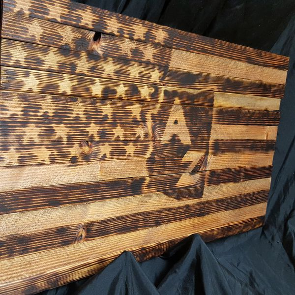 Wood Wall Decor Burnt Custom Flag for Sale in Mesa, AZ - OfferUp