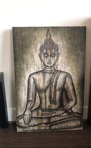 Large wood Buddha Sign for Sale in Alexandria, VA