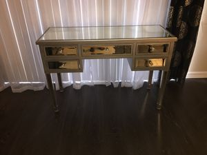 Beautiful 5-drawer mirrored desk for Sale in Alexandria, VA
