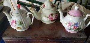 Photo 6 Antique Ceramic Tea Pots