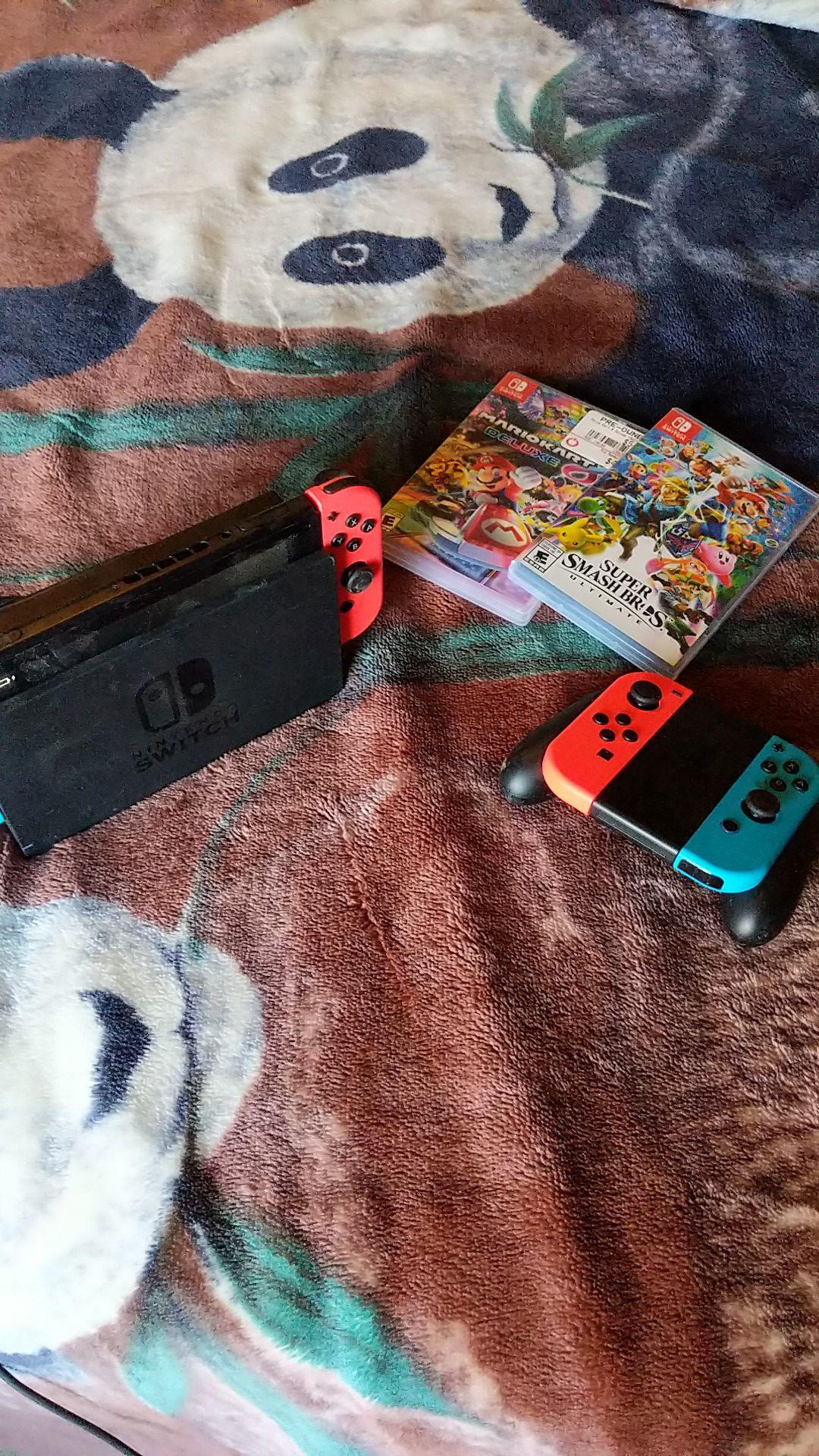 Nintendo Switch w/ Extra Joy Cons and Smash/MarioKart