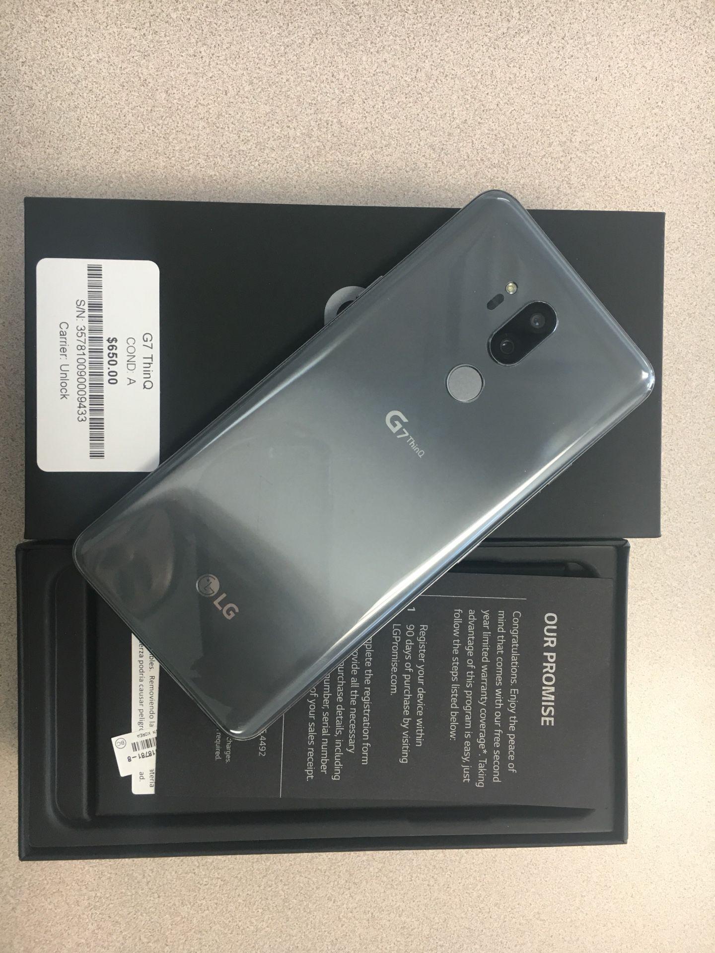 Mint condition LG G7 thinQ Factory Unlock