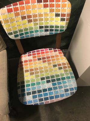 Unique color chart chair for Sale in San Francisco, CA