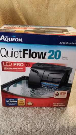AQUEON QUIET FLOW 20 AQUARIUM FILTER for Sale in Monrovia, MD