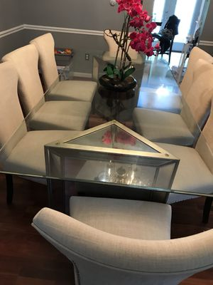 Mirrored Dining Set 8 chairs for Sale in Silver Spring, MD