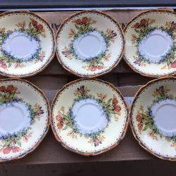 Crown Ducal Saucers Set For 6 Thumbnail