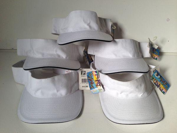 68c3395c3ae 5 Golf sun visor caps Paris fun in the sun for Sale in Pine Bush
