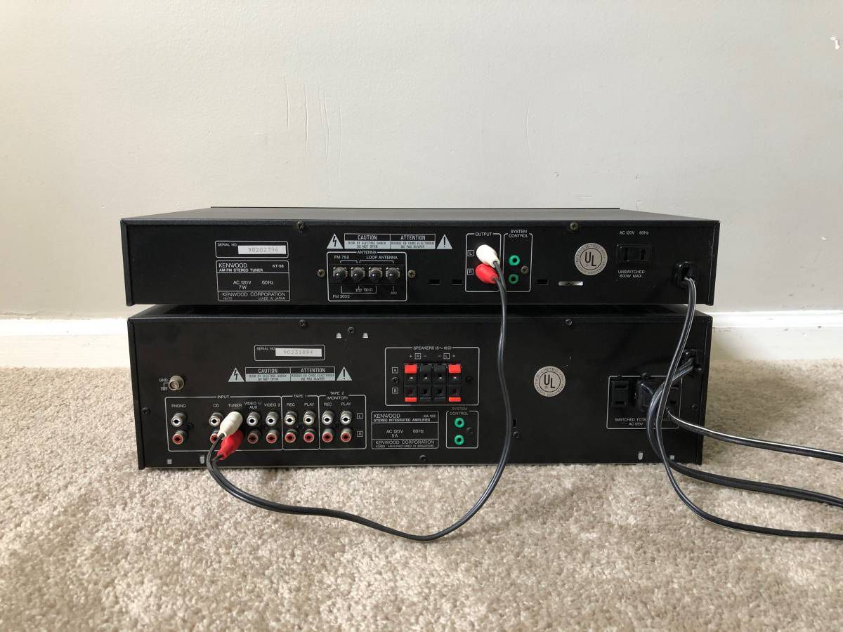 Kenwood Home Stereo Vintage System - Amplifier and Tuner Receiver