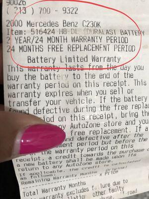 Mercedes Benz H8 Dl Duralast Battery With 2 Year Warranty