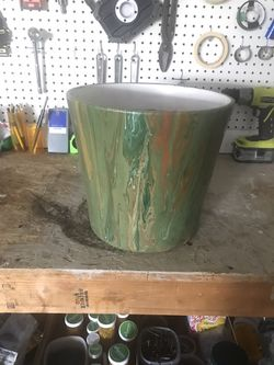 Painted Terracotta Pot  Thumbnail