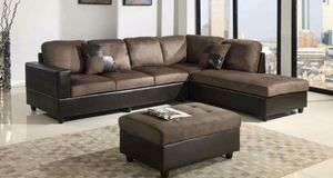 NEW 3pc Coffee Sectional Sofa Set for Sale in Seattle, WA