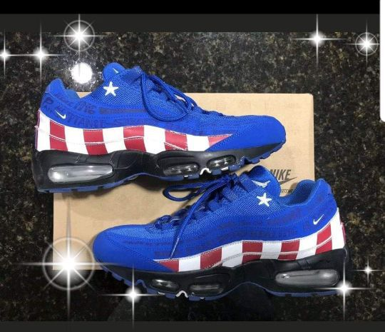 newest 78432 8a2d2 australia nike air max 95 le db doernbecher limited edition captain america  2cc98 d9db0