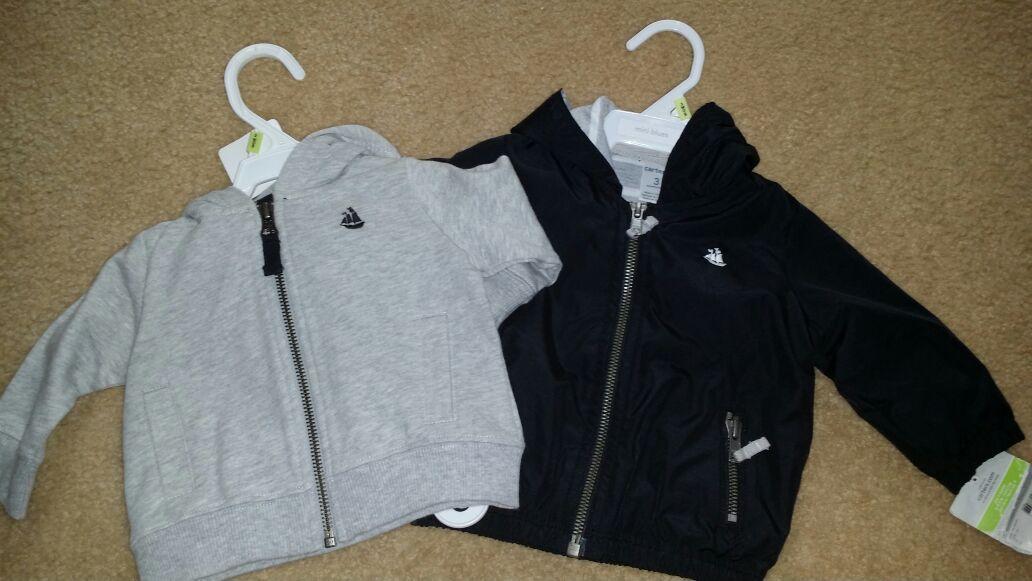 2 baby jackets