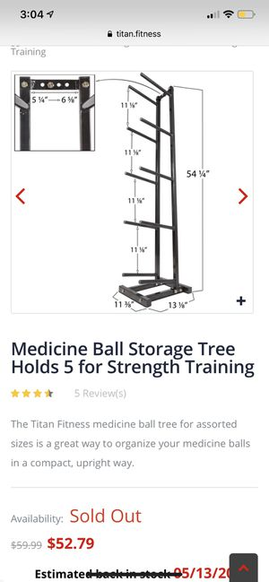 Titan Fitness Medicine ball rack for Sale in Port St  Lucie, FL - OfferUp