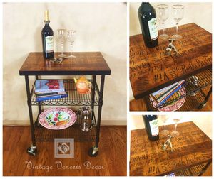 French Cafe Inspired Kitchen Cart for Sale in Alexandria, VA