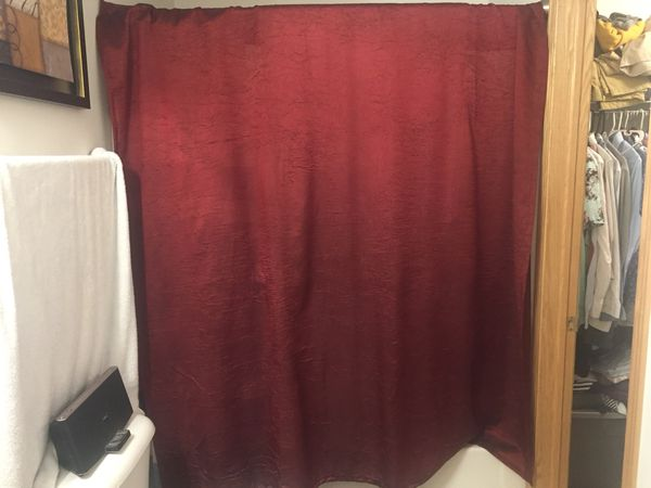 JC Penny Red Shower Curtain for Sale in West Des Moines, IA - OfferUp