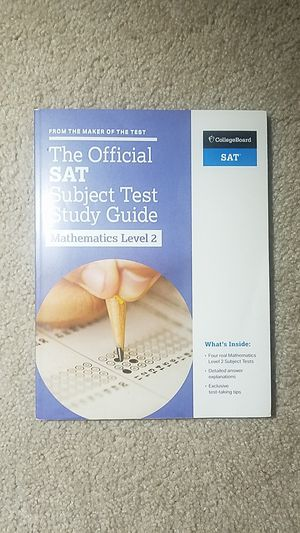 The Official SAT Subject Test Study Guide: Math Level 2 for Sale in Fairfax, VA