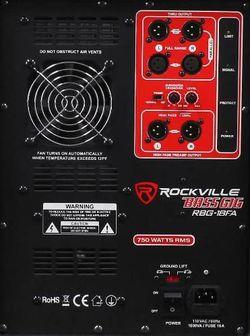 "Rockville RBG18FA 18"" 3000w Active Powered Pro Subwoofer Folded Horn PA/DJ Sub Thumbnail"