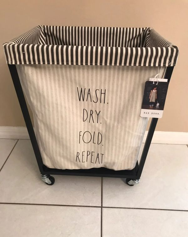 Rae Dunn Laundry Hamper With Wheels For Sale In Duluth Ga