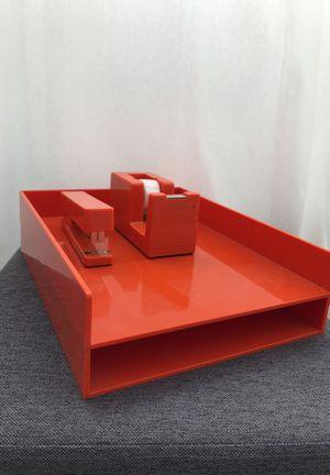 Orange desk set by Poppin for Sale in Santa Monica, CA