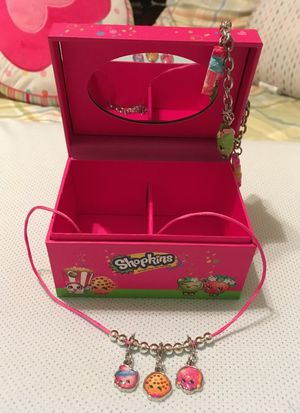Shopkins jewelry box with necklace and charm bracelet for Sale in Alexandria, VA