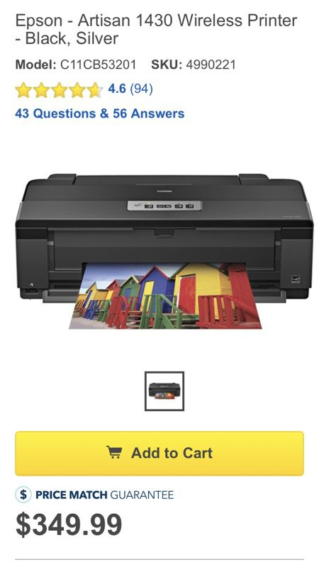 Epson Artisan 1430 printer for Sale in Tampa, FL - OfferUp