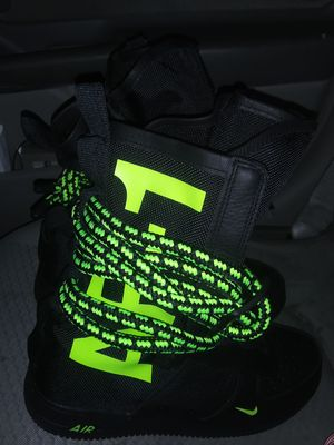 Photo Air force 1 high green and black 100 new size 9
