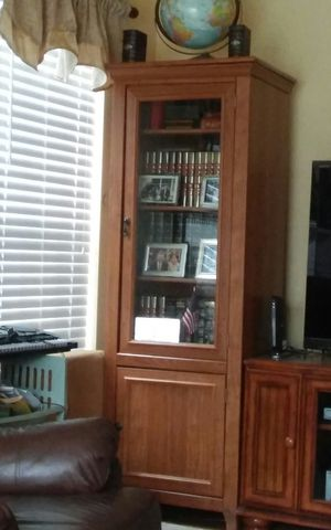 Book shelve with glass door and cabinet under 72 tall for Sale in Sterling, VA