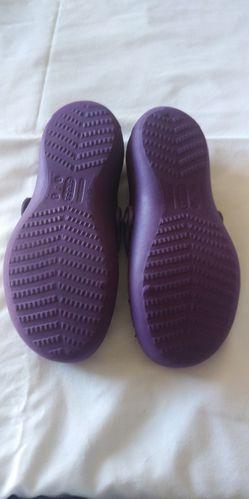 Purple Crocs size 1 or 3 Thumbnail